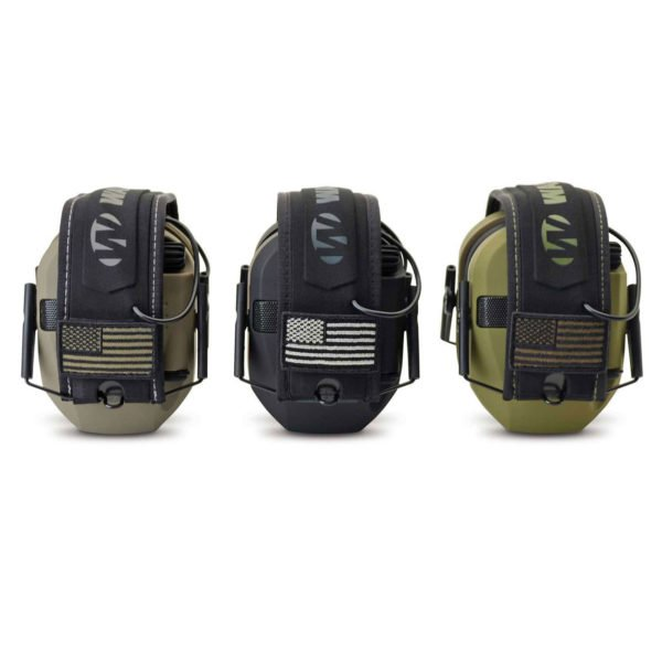 Razor electric ear muffs in limited edition Patriot Series colors