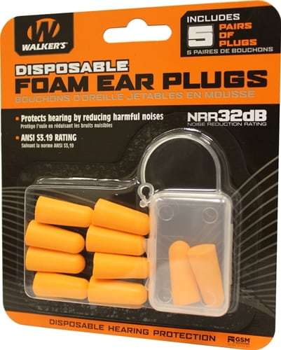 Foam Earplugs - 5 Pack