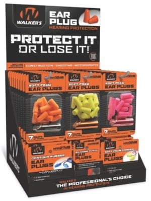 EAR PLUG DISPLAY - 58 ASSORTED PACKS