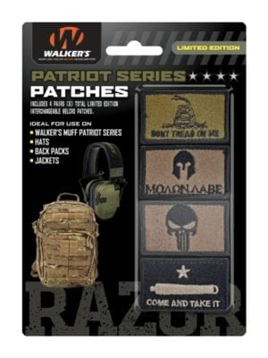 PATRIOT PATCH KIT - 4 ASSORTED PATCHES  (COME & TAKE IT VERSION)