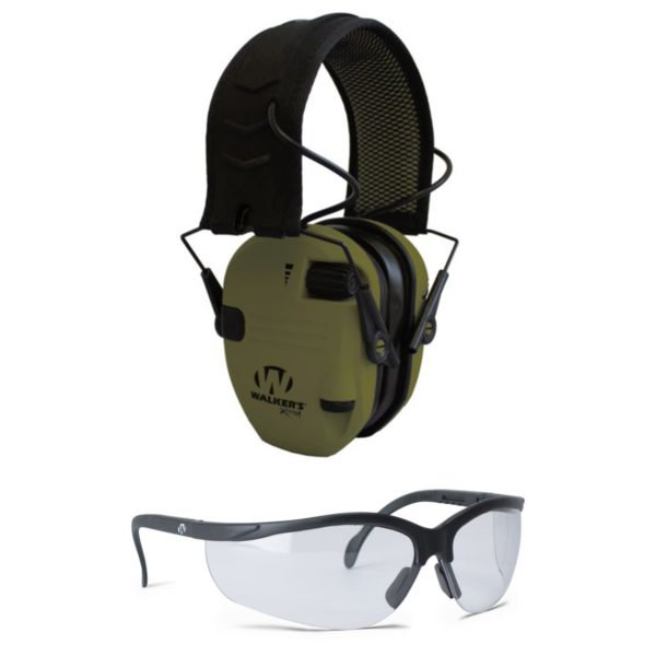 Walker's-Xtreme-Razor-Digital-Muffs-shooting-glasses-combo-XDRSEMSGL-ODG