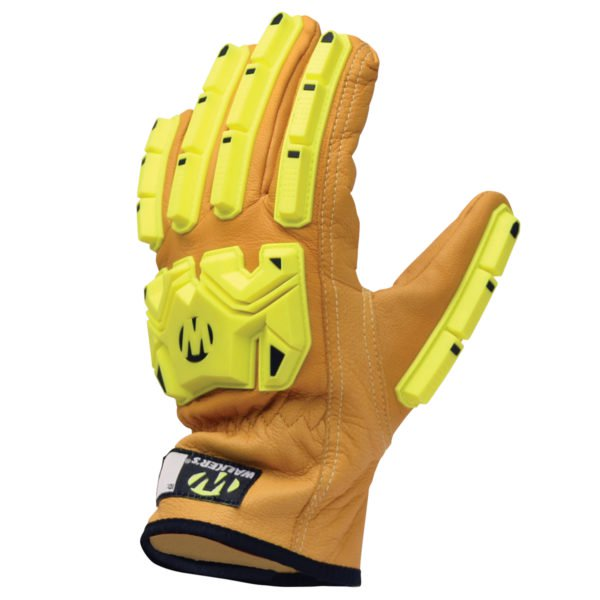 walker's leather impact and cut resistant glove