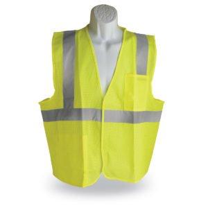 walker's single color hook and loop safety vest green
