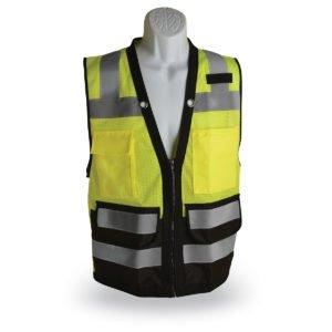 walker's zipper class 2 surveyor safety vest green and black